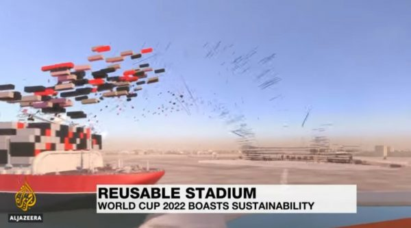 Curious new utilization of maritime containers : A brand new football stadium for Qatar's World Cup 2022